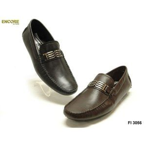 NWB Encore Fiesso BLK Leather Loafer Shoes FI3056